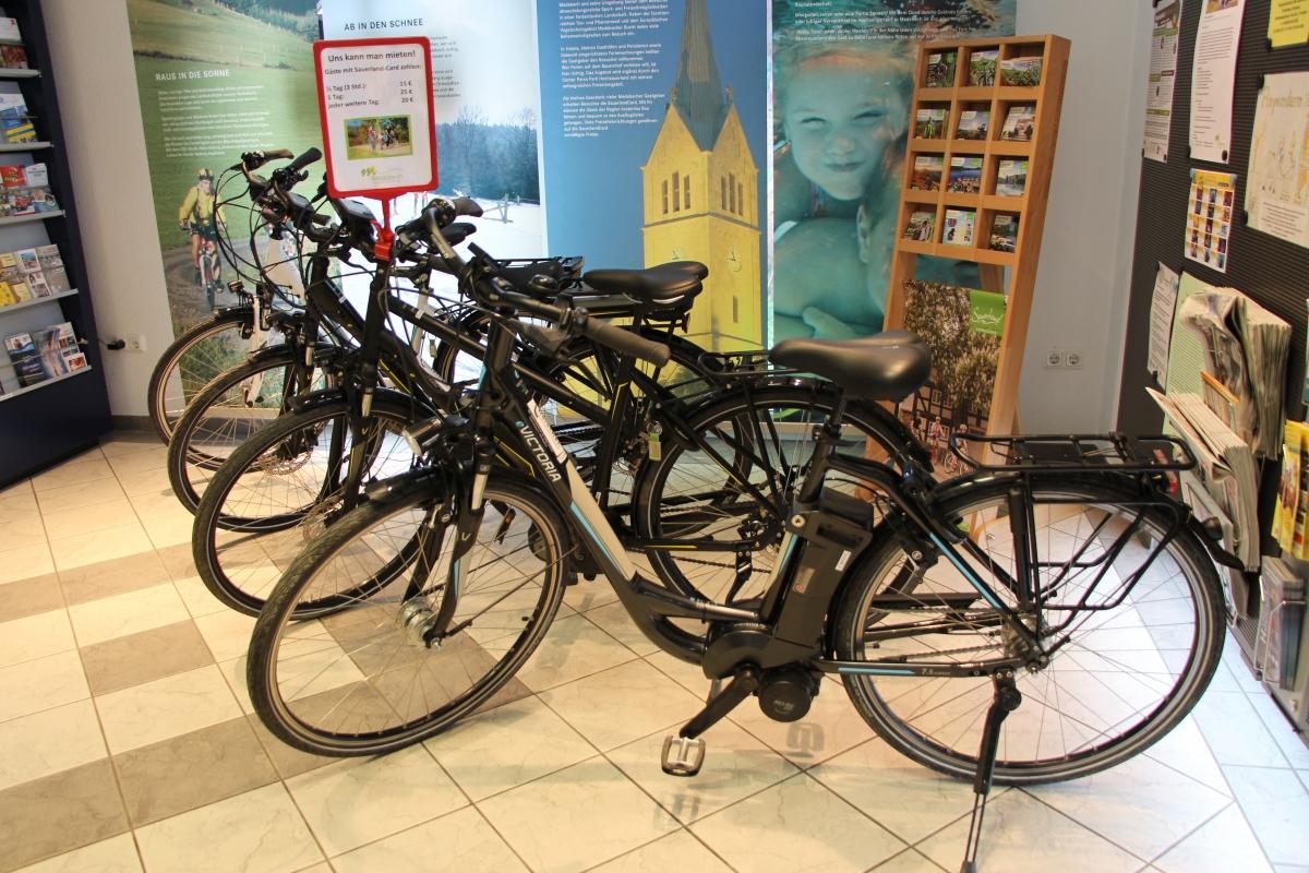 E-Bike Verleih in der Tourist-Info