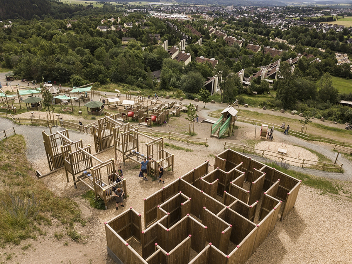 Aventura - Der SpielBerg in Medebach / Bildrechte Berliner Seilfabrik